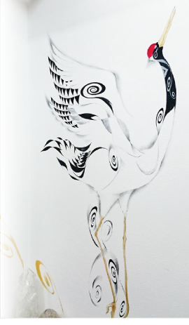 ニコサクヤイメージの鶴